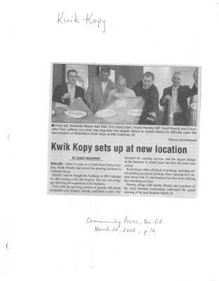 Kwik Kopy sets up at new location