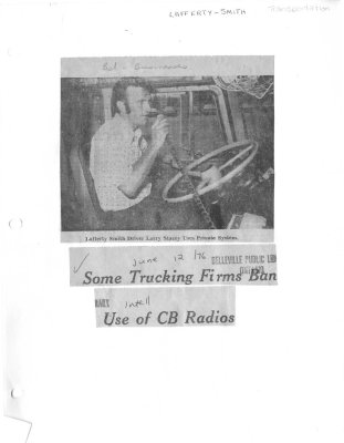Some Trucking Firms Ban Use of CB Radios