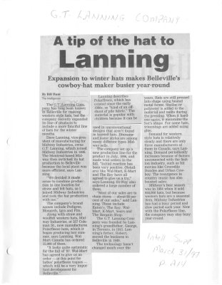 A tip of the hat to Lanning