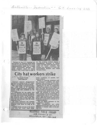 City hat workers strike