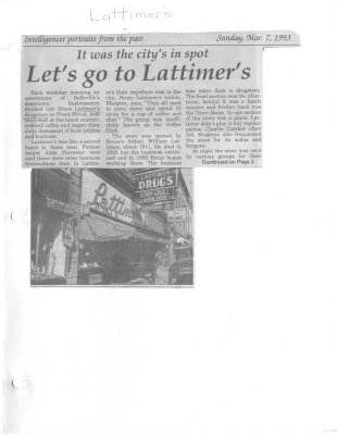It was the city's in spot: Let's go to Lattimer's