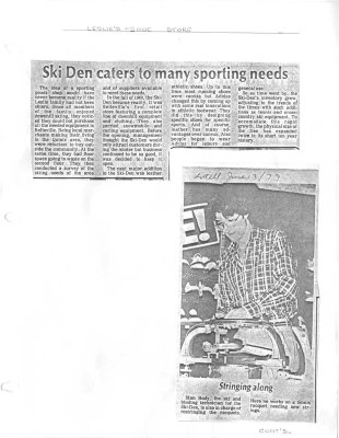 Ski Den Caters to Many Sporting Needs