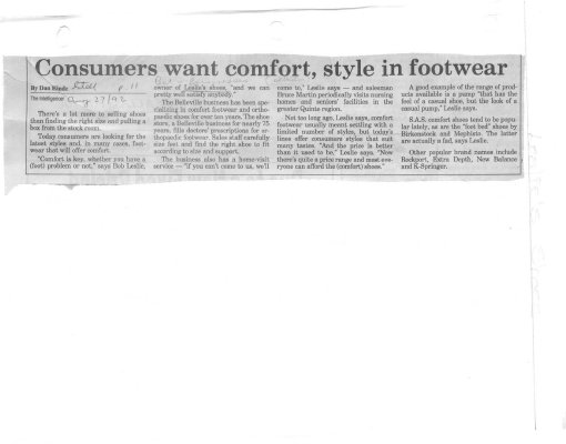 Consumers want comfort, style in footwear