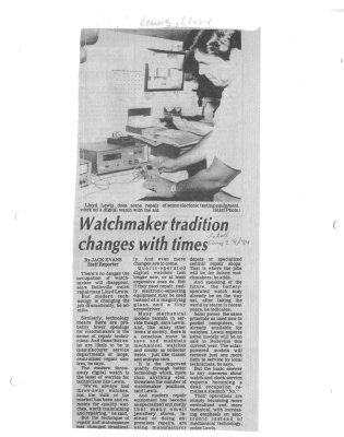 Watchmaker tradition changes with times