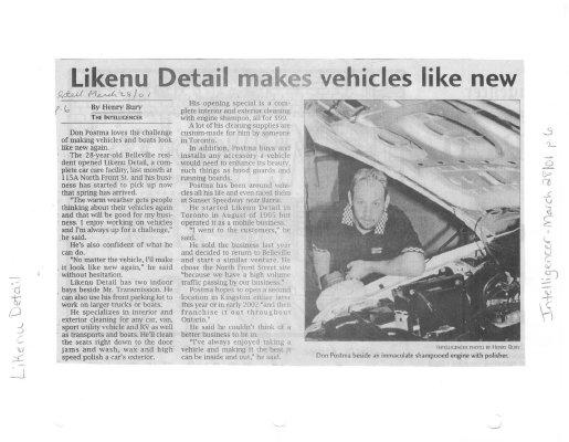 Likenu Detail makes vehicles like new