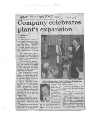 Company celebrates plant's expansion