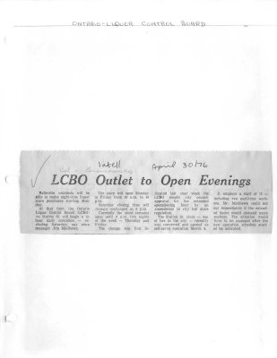 LCBO Outlet to Open Evenings