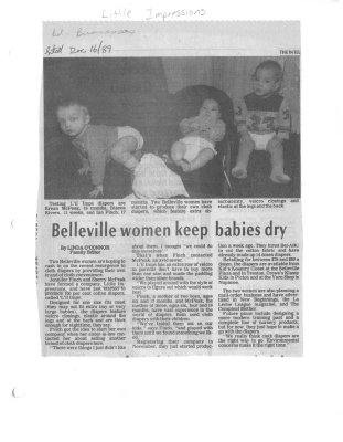 Belleville women keep babies dry