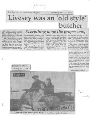 Livesey was an 'old style' butcher