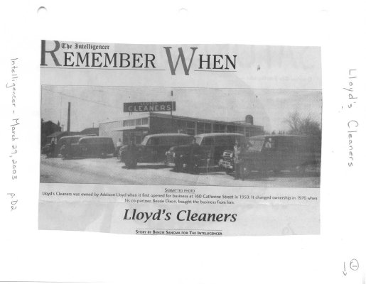 Remember when: Lloyd's Cleaners