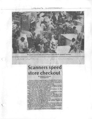 Scanners speed store checkout