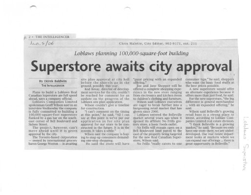 Superstore awaits city approval