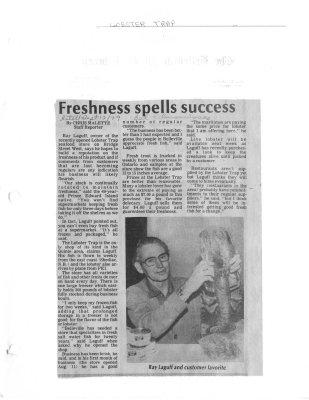 Freshness spells success