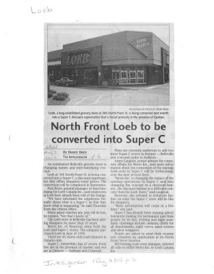 North Front Loeb to be converted into Super C