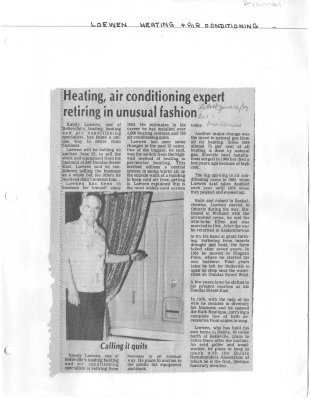 Heating, air conditioning expert retiring in unusual fashion
