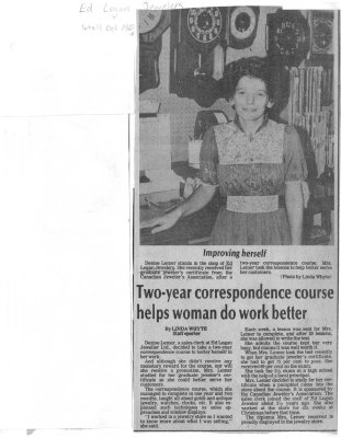Two-year correspondence course helps woman do work better
