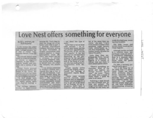 Love Nest offers something for everyone