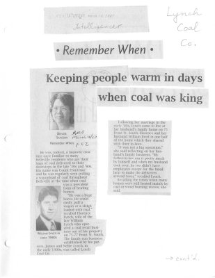 Keeping people warm in days when coal was king