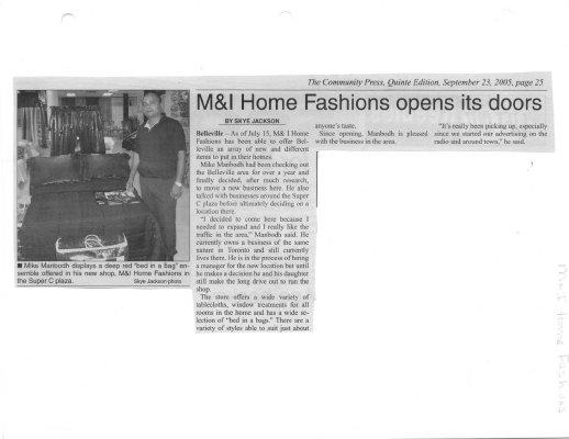 M&I Home Fashions opens its doors
