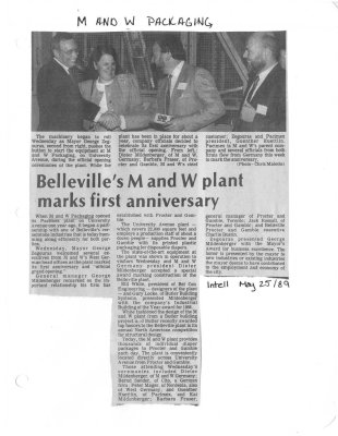 Belleville's M and W plant marks first anniversary