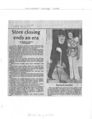 Store closing ends an era