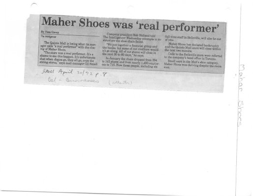 Maher Shoes was 'real performer'