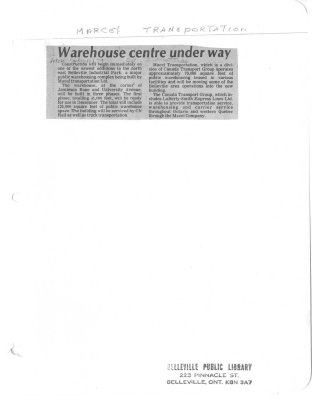Warehouse centre under way