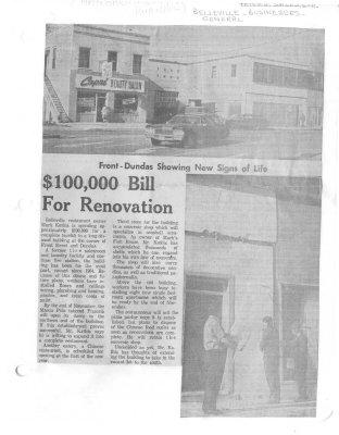 $100 000 Bill for Renovation