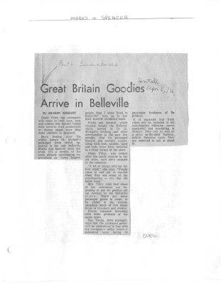 Great Britain Goodies Arrive in Belleville