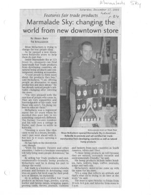 Marmalade Sky: changing the world from new downtown store