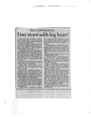Tiny store with big heart