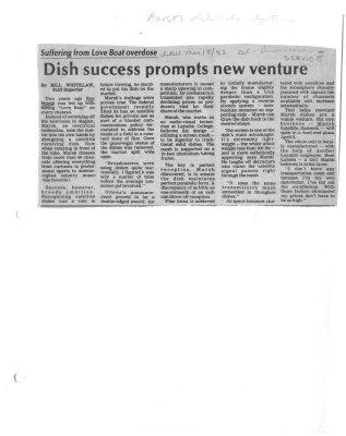 Dish success prompts new venture