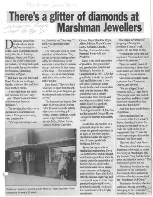 There's a glitter of diamonds at Marshman Jewellers