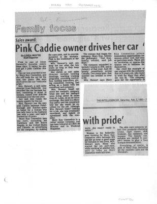 Pink Caddie owner drives her car 'with pride'
