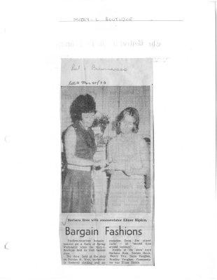 Bargain Fashions