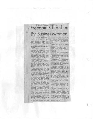 Freedom Cherished by Businesswoman