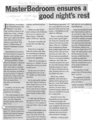 MasterBedroom ensures a good night's rest