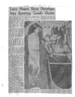 Lucy hopes shop develops into sporting goods outlet