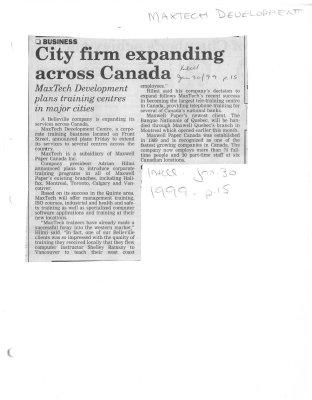 City firm expanding across Canada