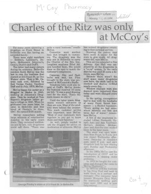 Remember When: Charles of the Ritz was only at McCoy's