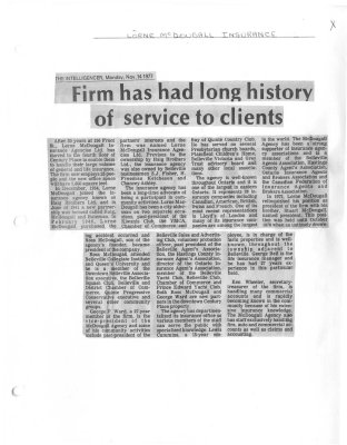 Firm has had long history of service to clients