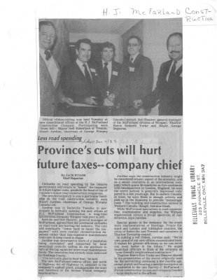 Province's cuts will hurt future taxes - company chief