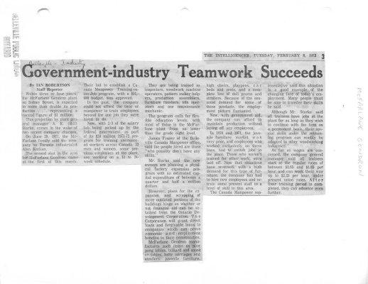 Government-industry Teamwork Succeeds