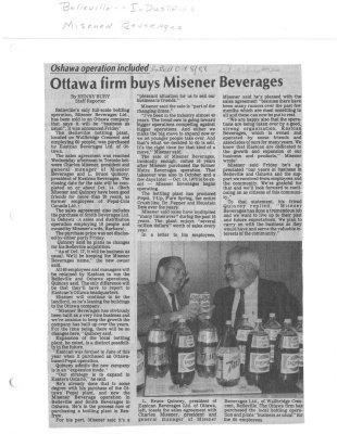 Ottawa firm buys Misener Beverages