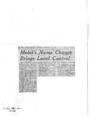 Mobil's Name Change Brings Local Control