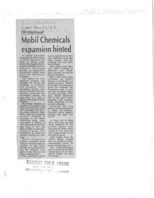 Mobil Chemicals expansion hinted