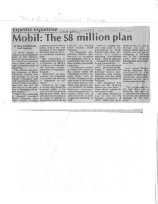 Mobil: The $8 million plan