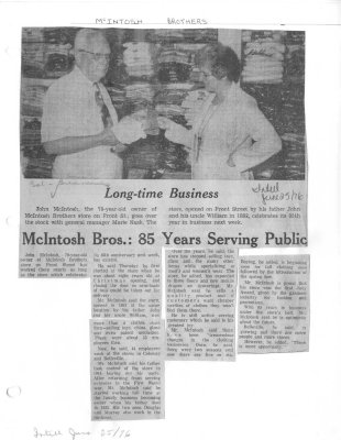 McIntosh Bros.: 85 Years Serving Public