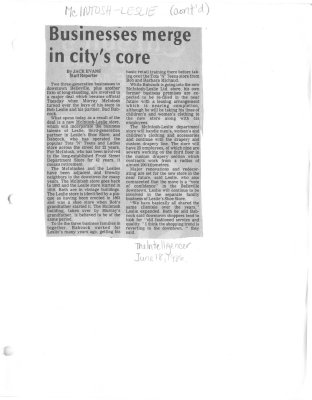 Businesses merge in city's core