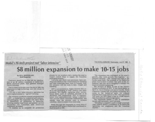 $8 Million expansion to make 10 - 15 jobs